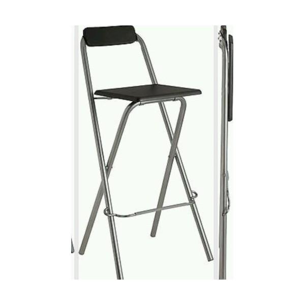 Strange Black Chrome And Wood Folding Make Up High Stool Hegai Esther Machost Co Dining Chair Design Ideas Machostcouk