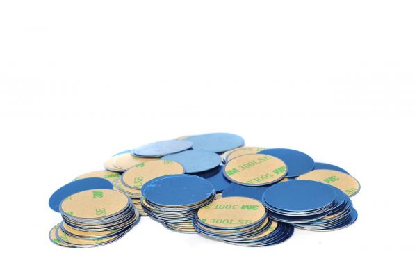 Round Metal Magnetic Receptive Sticker